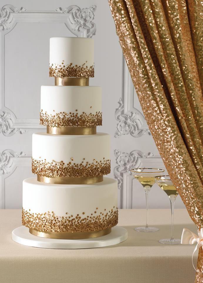 złoty tort weselny