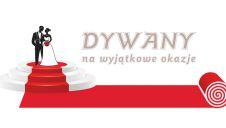 Czerwony dywan i biały dywan na ślub  -  Wielichowo  -  wielkopolskie
