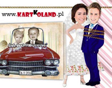 zaproszenia ślubne okolicznościowe, naklejki, etykiety, zawieszki, podziękowania i inne z Twoim zdjęciem zabawne fotomontaże - Mysłowice - śląskie